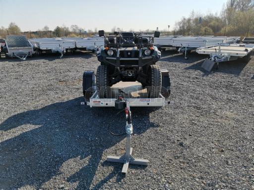 Jednoosý nebrzděný hydraulicky sklopný přívěs HS 750kg N1 2,55x1,26/0,10 ruč ECO č.33