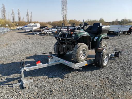 Jednoosý nebrzděný hydraulicky sklopný přívěs HS 750kg N1 2,55x1,26/0,10 ruč ECO č.34