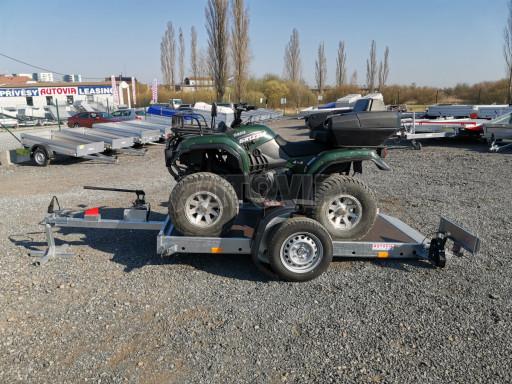 Jednoosý nebrzděný hydraulicky sklopný přívěs HS 750kg N1 2,55x1,26/0,10 ruč ECO č.35