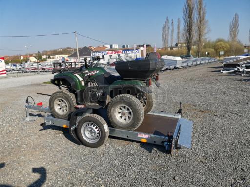 Jednoosý nebrzděný hydraulicky sklopný přívěs HS 750kg N1 2,55x1,26/0,10 ruč ECO č.4