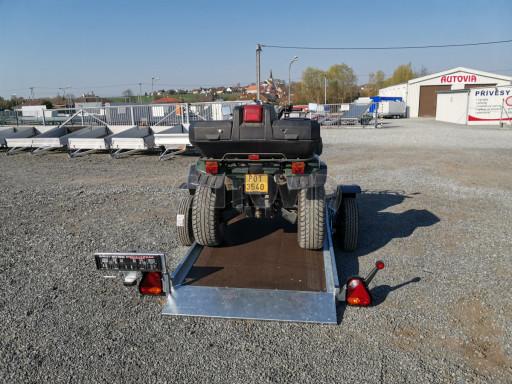 Jednoosý nebrzděný hydraulicky sklopný přívěs HS 750kg N1 2,55x1,26/0,10 ruč ECO č.6