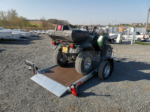 Jednoosý nebrzděný hydraulicky sklopný přívěs HS 750kg N1 2,55x1,26/0,10 ruč ECO č.36