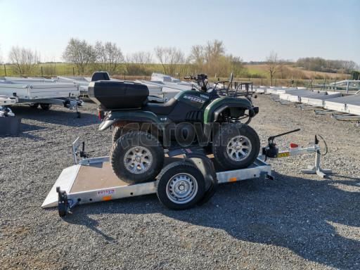 Jednoosý nebrzděný hydraulicky sklopný přívěs HS 750kg N1 2,55x1,26/0,10 ruč ECO č.37