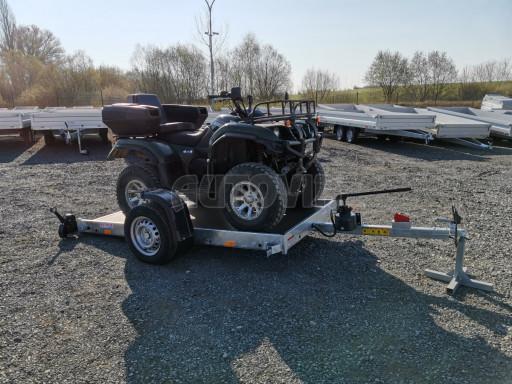 Jednoosý nebrzděný hydraulicky sklopný přívěs HS 750kg N1 2,55x1,26/0,10 ruč ECO č.2