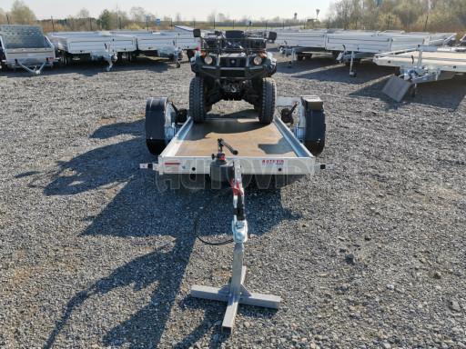Jednoosý nebrzděný hydraulicky sklopný přívěs HS 750kg N1 2,55x1,26/0,10 ruč ECO č.38