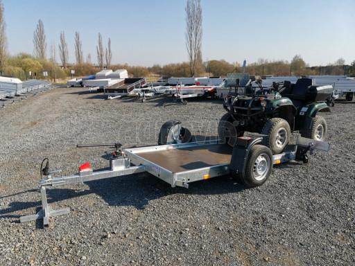 Jednoosý nebrzděný hydraulicky sklopný přívěs HS 750kg N1 2,55x1,26/0,10 ruč ECO č.39