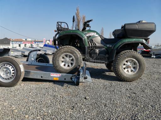 Jednoosý nebrzděný hydraulicky sklopný přívěs HS 750kg N1 2,55x1,26/0,10 ruč ECO č.40