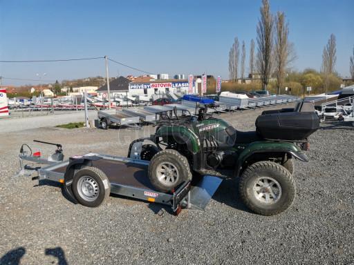 Jednoosý nebrzděný hydraulicky sklopný přívěs HS 750kg N1 2,55x1,26/0,10 ruč ECO č.41