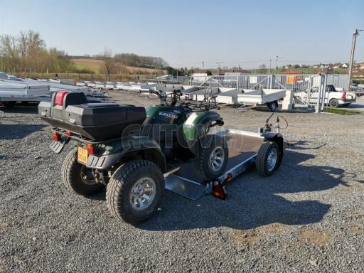 Jednoosý nebrzděný hydraulicky sklopný přívěs HS 750kg N1 2,55x1,26/0,10 ruč ECO č.43