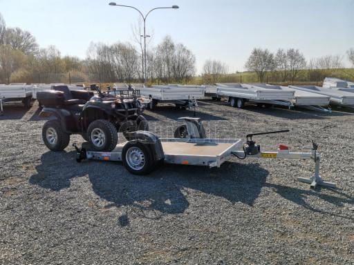 Jednoosý nebrzděný hydraulicky sklopný přívěs HS 750kg N1 2,55x1,26/0,10 ruč ECO č.5