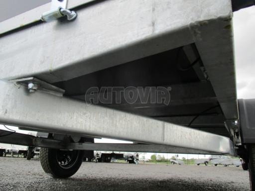 Přívěsný vozík za auto ZV 31 750kg N1 3,01x1,54/0,30 zes.náprava POČ** č.16