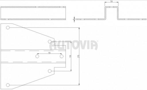 Základna pro přívěsný kloub 1,53m č.2