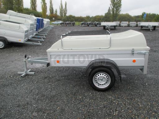Levný přívěs za osobní auto HD 3 750kg 2,07x1,10/0,50 víko** č.4