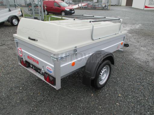 Levný přívěs za osobní auto HD 3 750kg 2,07x1,10/0,50 víko** č.7