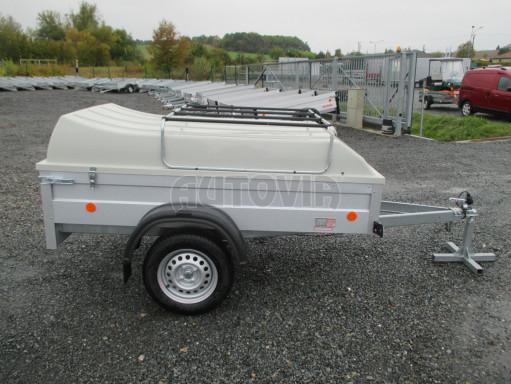 Levný přívěs za osobní auto HD 3 750kg 2,07x1,10/0,50 víko** č.8