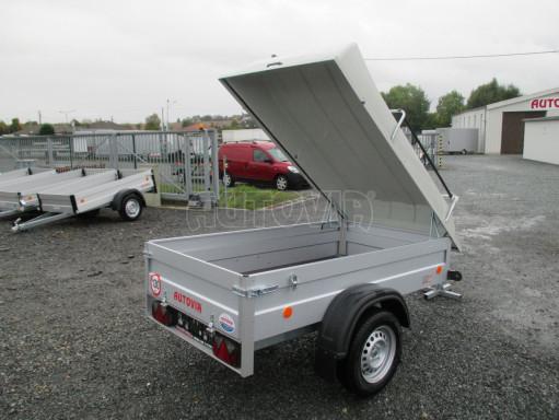 Levný přívěs za osobní auto HD 3 750kg 2,07x1,10/0,50 víko** č.13