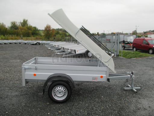Levný přívěs za osobní auto HD 3 750kg 2,07x1,10/0,50 víko** č.14