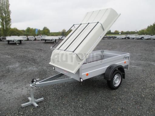 Levný přívěs za osobní auto HD 3 750kg 2,07x1,10/0,50 víko** č.16