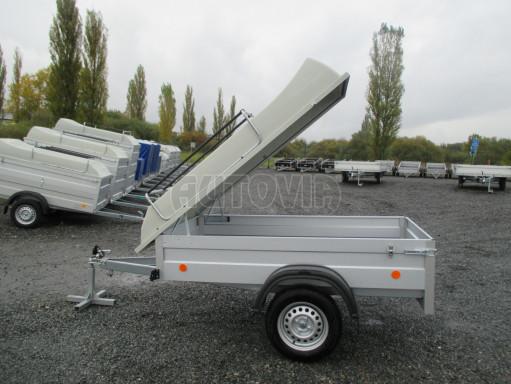 Levný přívěs za osobní auto HD 3 750kg 2,07x1,10/0,50 víko** č.17