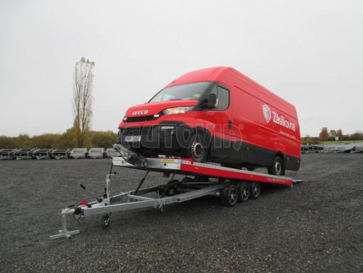 Plato pro převoz velkých vozidel JMB 3,5T B3 5,50x2,09 ALU kola el.naviják* č.1