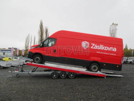Plato pro převoz velkých vozidel JMB 3,5T B3 5,50x2,09 ALU kola el.naviják* č.2
