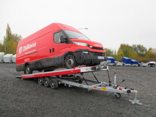 Plato pro převoz velkých vozidel JMB 3,5T B3 5,50x2,09 ALU kola el.naviják* č.8