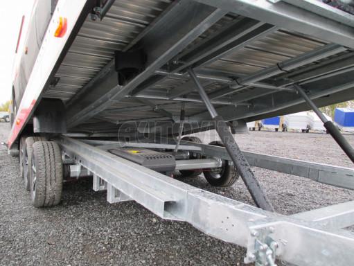 Plato pro převoz velkých vozidel JMB 3,5T B3 5,50x2,09 ALU kola el.naviják* č.96
