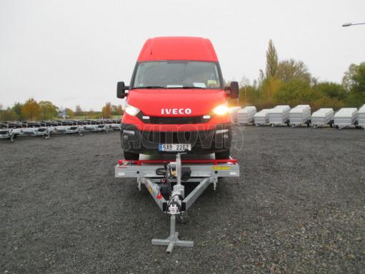 Plato pro převoz velkých vozidel JMB 3,5T B3 5,50x2,09 ALU kola el.naviják* č.9