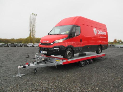 Plato pro převoz velkých vozidel JMB 3,5T B3 5,50x2,09 ALU kola el.naviják* č.10