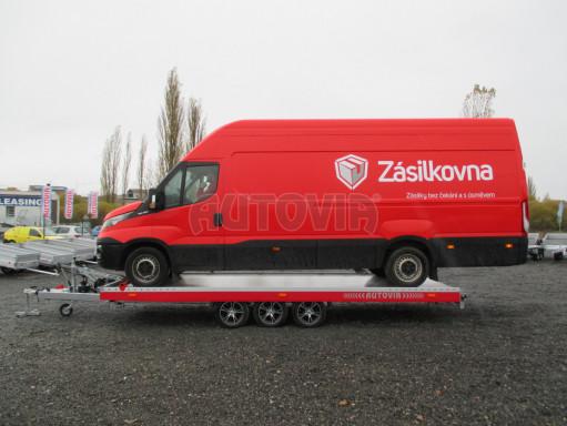 Plato pro převoz velkých vozidel JMB 3,5T B3 5,50x2,09 ALU kola el.naviják* č.11