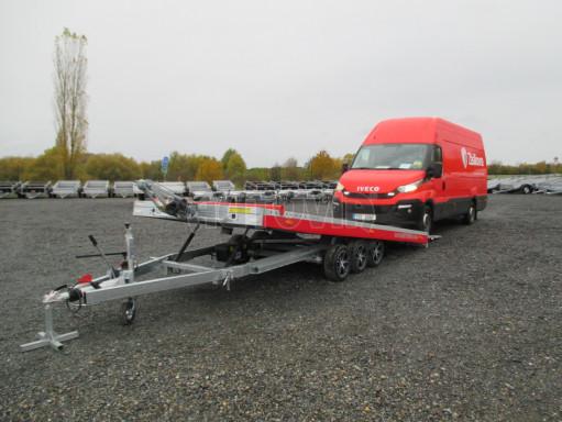 Plato pro převoz velkých vozidel JMB 3,5T B3 5,50x2,09 ALU kola el.naviják* č.17