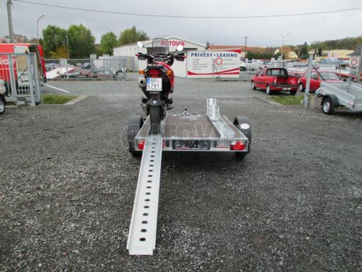 Přívěsný vozík PV 750 pro 2 motocykly 2,11x1,55 č.5