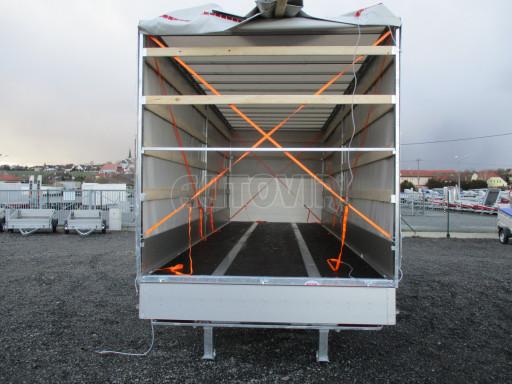 Jednonápravový 18-ti paletový vzduchem brzděný nákladní přívěs MD 10T 7,40 x 2,48/2,50 č.6
