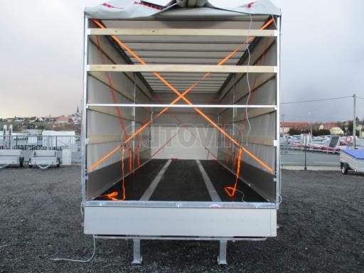 Jednonápravový 18-ti paletový vzduchem brzděný nákladní přívěs MD 10T 7,40 x 2,48/2,50 č.24