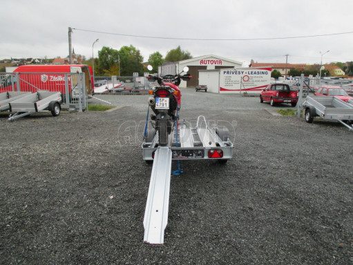 Přívěsný vozík pro přepravu motocyklů MOTO 750kg 2,06x1,09* č.6