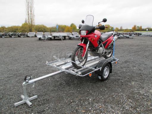 Přívěsný vozík pro přepravu motocyklů MOTO 750kg 2,06x1,09* č.1