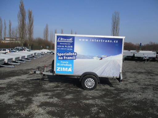 Bazarový skříňový přívěs ZV 26 1,3T B1 2,50x1,26/1,50* č.5
