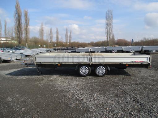 Bazarový přívěsný vozík v provedení valník VER 2,7T 5,03x2,06/0,30 č.5