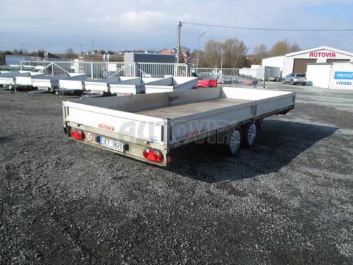 Bazarový přívěsný vozík v provedení valník VER 2,7T 5,03x2,06/0,30 č.2