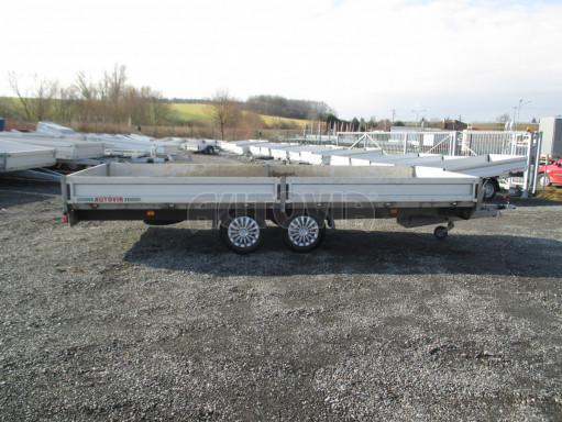 Bazarový přívěsný vozík v provedení valník VER 2,7T 5,03x2,06/0,30 č.7