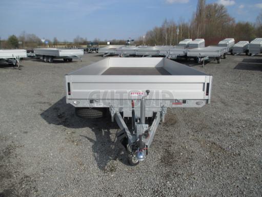 Hydraulicky sklopný přívěs pro přepravu aut AD 5 2,7T 5,17x2,09 valník** bazar č.11
