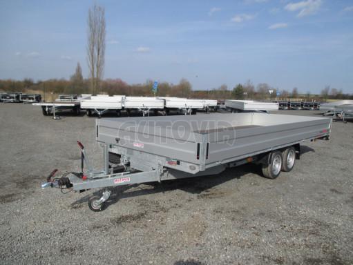 Hydraulicky sklopný přívěs pro přepravu aut AD 5 2,7T 5,17x2,09 valník** bazar č.2