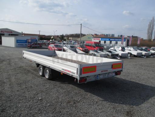 Hydraulicky sklopný přívěs pro přepravu aut AD 5 2,7T 5,17x2,09 valník** bazar č.6