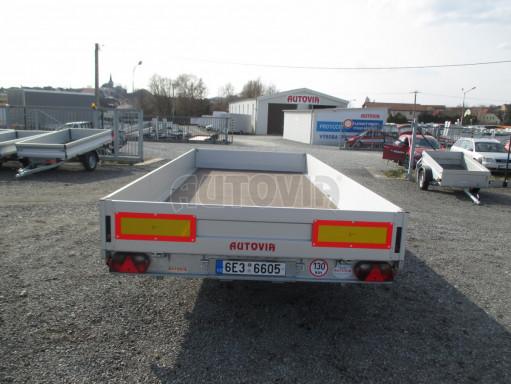 Hydraulicky sklopný přívěs pro přepravu aut AD 5 2,7T 5,17x2,09 valník** bazar č.7