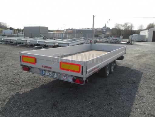 Hydraulicky sklopný přívěs pro přepravu aut AD 5 2,7T 5,17x2,09 valník** bazar č.8