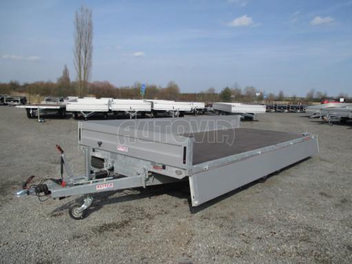 Hydraulicky sklopný přívěs pro přepravu aut AD 5 2,7T 5,17x2,09 valník** bazar č.3