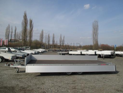 Hydraulicky sklopný přívěs pro přepravu aut AD 5 2,7T 5,17x2,09 valník** bazar č.12