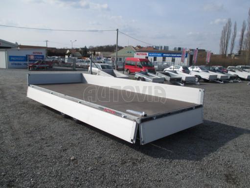 Hydraulicky sklopný přívěs pro přepravu aut AD 5 2,7T 5,17x2,09 valník** bazar č.13