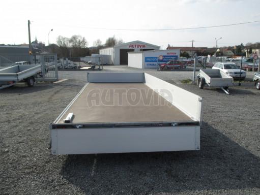 Hydraulicky sklopný přívěs pro přepravu aut AD 5 2,7T 5,17x2,09 valník** bazar č.14