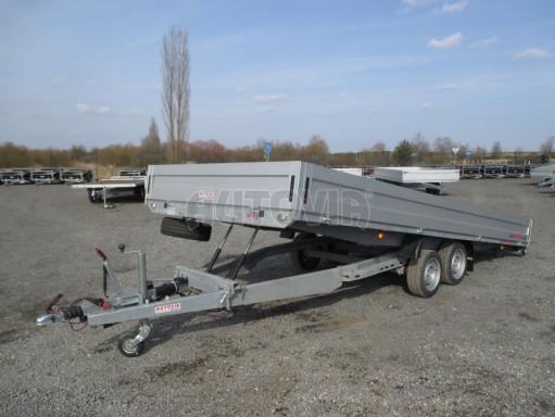 Hydraulicky sklopný přívěs pro přepravu aut AD 5 2,7T 5,17x2,09 valník** bazar č.1